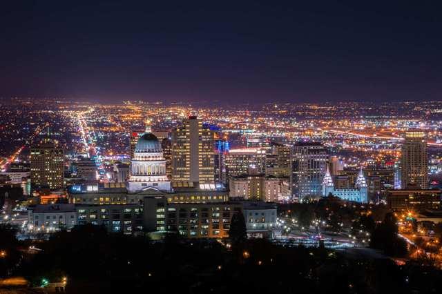 Salt Lake City Capital Night