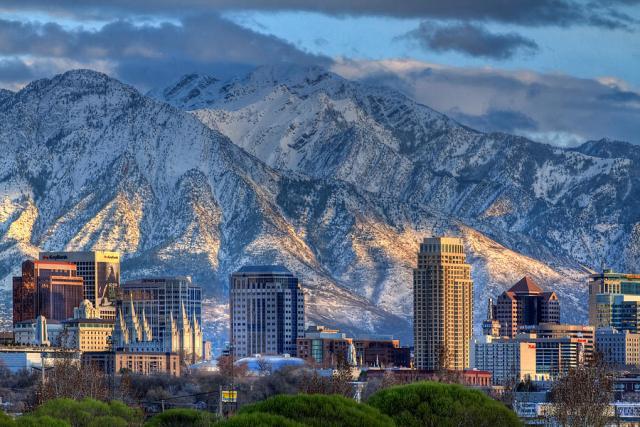 Salt Lake City Mountains Snow